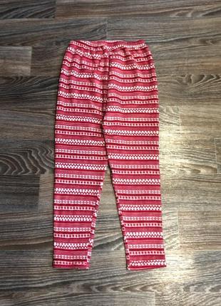 Красные и белые домашние ночные пижамные штаны в клетку