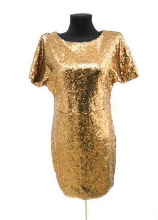 Платье в пайетках hancy