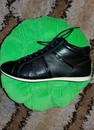 Р.38 ecco (оригинал) кожаные деми ботинки.