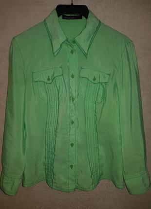 Нежная шелковая блуза рубашка marc cain,оригинал