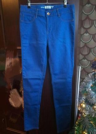 Нереально классные новые узкие синие джинсы скинни in extenso, l,xl размер