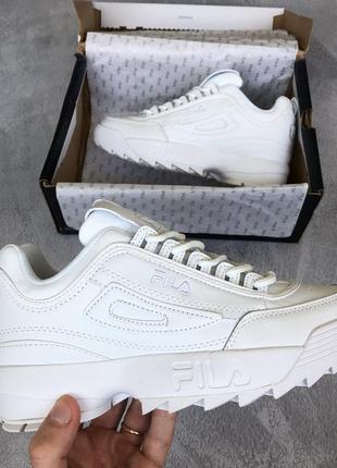 Белые женские кроссовки fila disruptor разные размеры в наличии