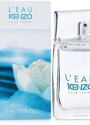 Туалетна вода мініатюра / туалетная вода мини l'eau par kenzo pour femme 5ml, новп