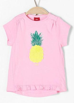 """Новая розовая футболка с аппликацией """"ананас"""", s.oliver, 65705"""