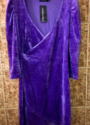 Шикарное платье rinascimento велюр италия 🇮🇹 р.s-m,новое.