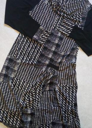 Черно-белое платье итальянского бренда  elisa landri, м-l