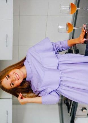 Фиолетовое лёгкое платье