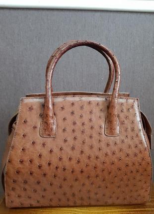 Стильная сумка из кожи страуса redwall