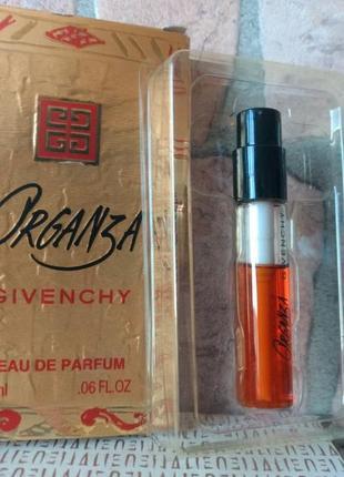 Organza givenchy, фирменный пробник-спрей в коробочке 2 мл