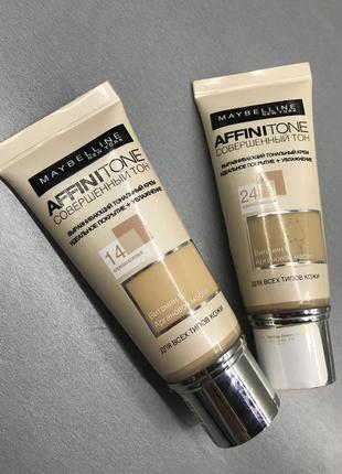 Тональний крем для обличчя maybelline affinitone досконалий тон