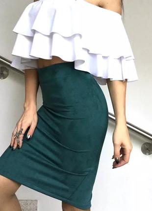 Замшевая юбка карандаш