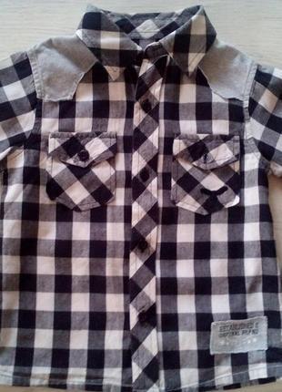 Стильная рубашка cherokee 3-5 лет.
