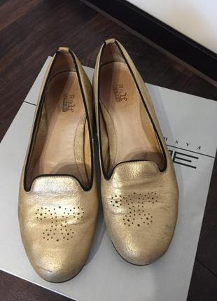 Золото как всегда в моде, золотые лоферы, балетки