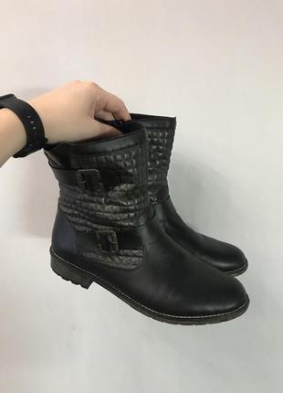 Демисезонные кожаные сапоги / полусапожки remonte оригинал рр. 41