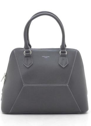 Женская сумка david jones 5709-3 темно-серая
