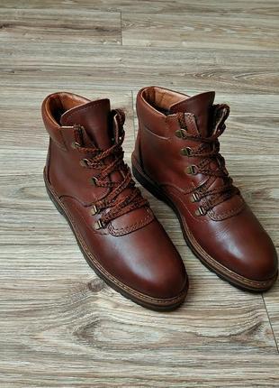 Оригинальные ботинки clarks зимние на меху