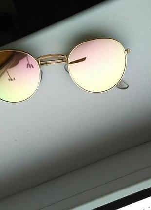 Скидка!новые, стильные, трендовые,модные,солнцезащитные очки,ретро,зеркальные,мода 2019