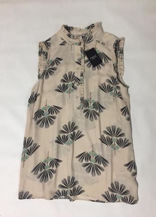 Нежная блуза в принт, next, оригинал