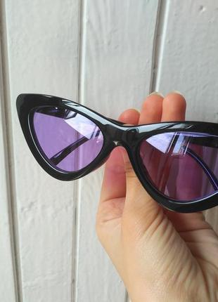 Скидка!новые,стильные,тренд,мод,солнцезащитные очки,ретро, имидж лисички,кошачий глаз