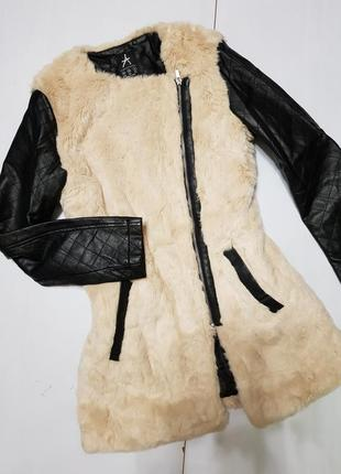 Эко шубка,  куртка размер 10