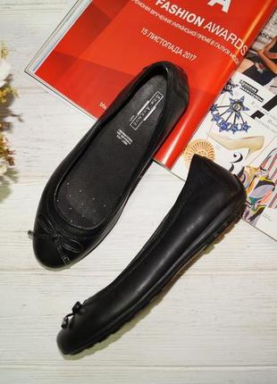 5th avenue! кожа! красивые комфортные туфли на низком ходу