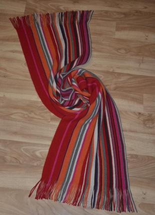 Теплый шарф paul smith шерсть