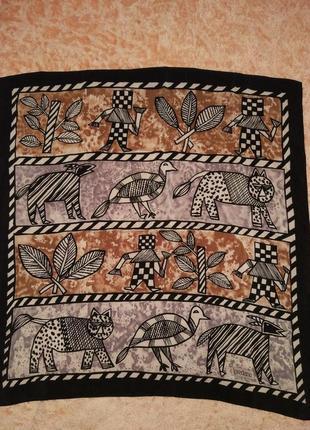 Шелковый шикарный платок косынка шаль шарф loredano