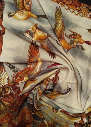 Шелковый шикарный платок косынка шаль шарф франция