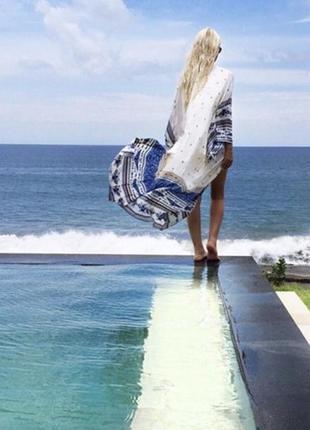 Пляжна туніка парео накидка на купальник оверсайз