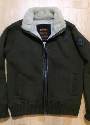 Schott nyc пилот свитер-куртка