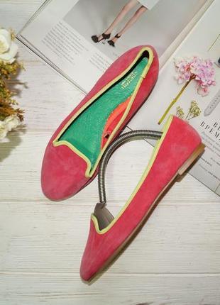 Accessorize! кожа/замша! красивые комфортные туфли на низком ходу, балетки