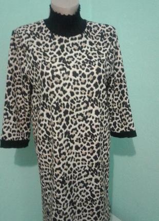 Трендовое платье с тигровым принтом