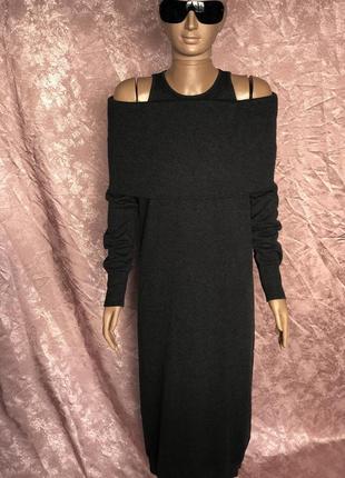 Длинное обтягивающее платье из кашемира brunello cucinelli италия оригинал