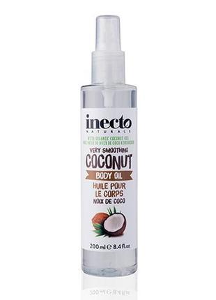 Кокосовое масло-спрей для тела inecto naturals coconut body oil англия