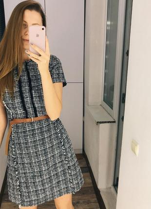 Нереальное твидовое платье dorothy perkins
