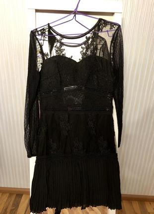 Платье чёрное коктейльное