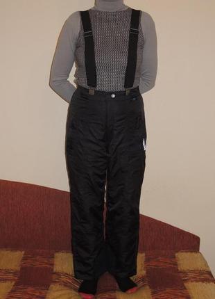 Фирменные лыжные мембранные штаны комбинезон online aquamax р.s/m