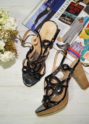 San martin! кожа! красивые фирменные босоножки на устойчивом каблуке