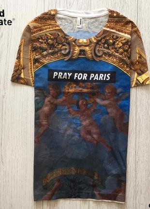 Мужская футболка pray for paris