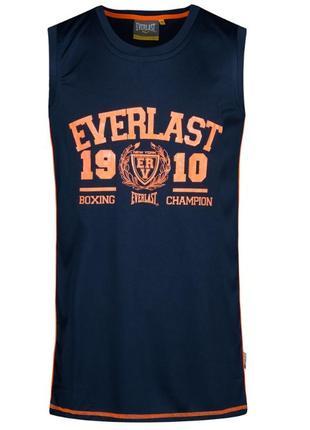 Оригинал мужская спортивная майка с everlast синяя размер s, m, l