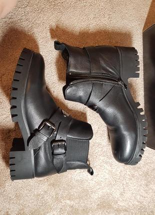 Демисезонные полусапожки, ботинки marco piero 38 р. натуральная кожа