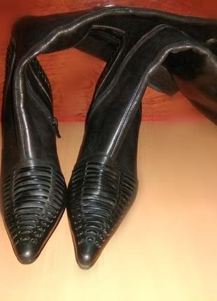 Шкіряні осінні чоботи. кожаные осенние сапоги