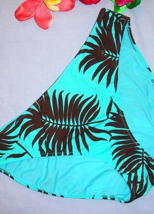 Низ от купальника раздельного трусики женские плавки размер 52 / 18 бирюзовые коричневые