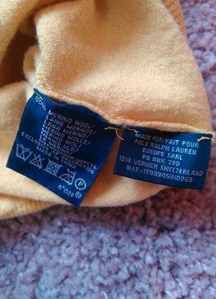 Шерстяная кофта, свитер, джемпер шерсть мериноса ralph lauren3