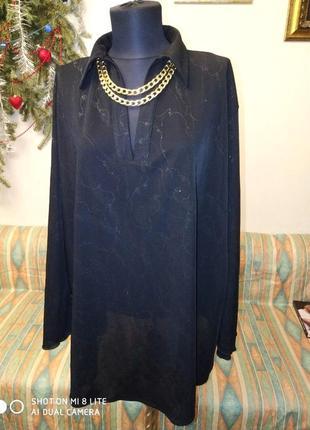 Супер блуза с искрой серебром  62-64размер