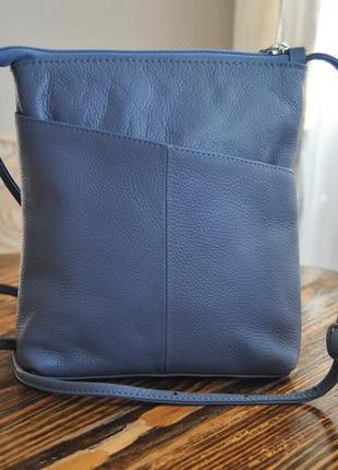 Кожаная сумка кроссбод hotter / шкіряна сумка
