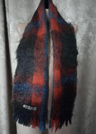Большой шарф мохеровый нахар индия 140х30 см