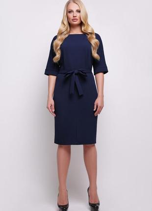 Элегантное женское деловое офисное платье размер: 3xl