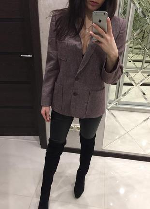 Стильный удлиненный пиджак ,мелкая клетка ,актуальный принт 2019 франция 🇫🇷