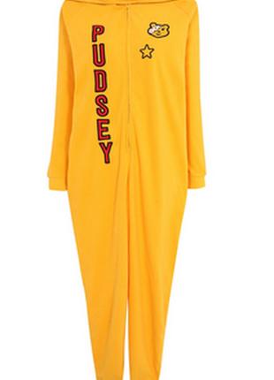 Onesize флисовый комбез, пижама, костюм для дома, ромпер xs, s, m george